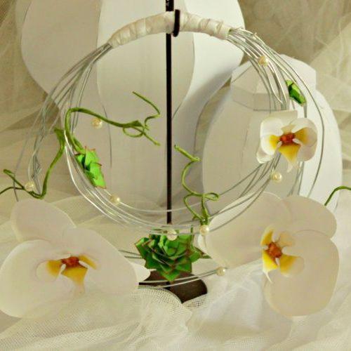 Bouquet di orchidee a borsetta