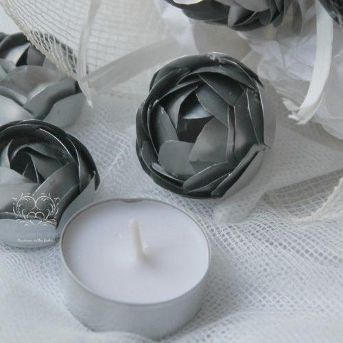 Bouquet bianco e metallo -Metalromantica-