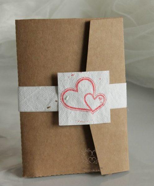 Partecipazione Pocketfold con fascetta in carta seminabile